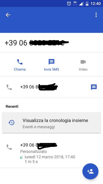 dati chiamata 2