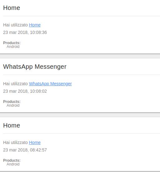 dati google Android